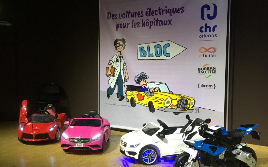 Des mini-voitures électriques pour l'hôpital d'Orléans.